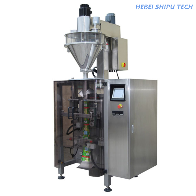 Roll Film Auger Vertical Packing Powder Packaging Granule Packing Machine China Factory