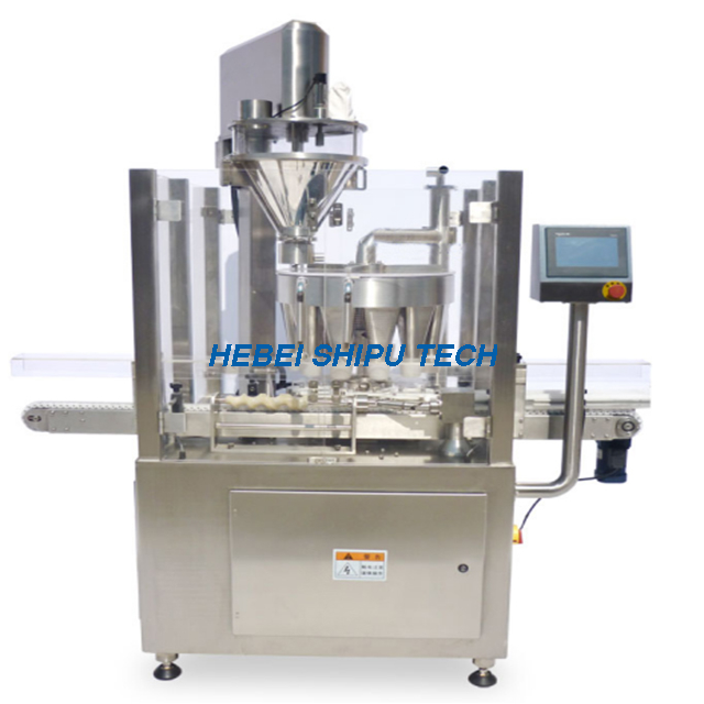 Automatic Wasabi Powder Chicken Powder Multi-station Rotary Filling Machine China Manufacturer